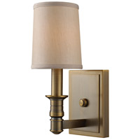 ELK 31260/1 Baxter 1 Light 5 inch Brushed Antique Brass Wall Sconce Wall Light