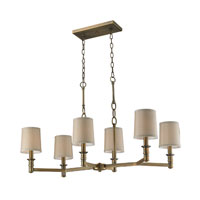 ELK Lighting Baxter 6 Light Chandelier in Brushed Antique Brass 31267/6