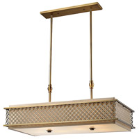 ELK Lighting Chester 4 Light Island Light in Brushed Antique Brass 31269/4