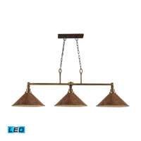 ELK Lighting Baxter 3 Light Billiard/Island in Brushed Antique Brass 31270/3BW-LED