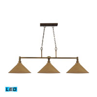 ELK Lighting Baxter 3 Light Billiard/Island in Brushed Antique Brass 31270/3MO-LED