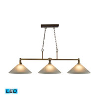 ELK Lighting Baxter 3 Light Billiard/Island in Brushed Antique Brass 31270/3WH-LED