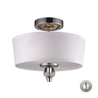 Martina 2 Light 12 inch Polished Chrome Semi-Flush Mount Ceiling Light in Recessed Adapter Kit