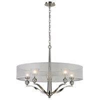 ELK Lighting Corisande 5 Light Chandelier in Polished Nickel 31292/5