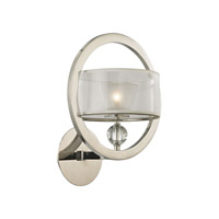 Corisande 1 Light 12 inch Polished Nickel Wall Sconce Wall Light
