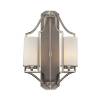 Linden 2 Light 12 inch Matte Nickel Wall Sconce Wall Light