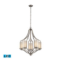 Linden LED 25 inch Matte Nickel Chandelier Ceiling Light
