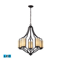 ELK Lighting Linden 5 Light Chandelier in Oiled Bronze 31316/5-LED