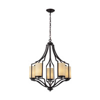 ELK Lighting Linden 5 Light Chandelier in Oiled Bronze 31316/5