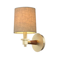 Jorgenson 1 Light 6 inch Satin Brass Wall Sconce Wall Light