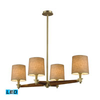 Jorgenson LED 40 inch Satin Brass Chandelier Ceiling Light