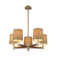Jorgenson 5 Light 28 inch Satin Brass Chandelier Ceiling Light