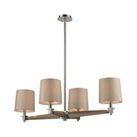 Jorgenson 4 Light 40 inch Polished Nickel Chandelier Ceiling Light