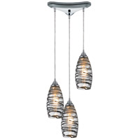 ELK Lighting Twister 3 Light Pendant in Polished Chrome 31338/3VINW