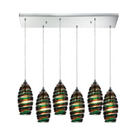 ELK Lighting Twister 6 Light Pendant in Polished Chrome 31338/6RC-LICR