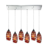 ELK Lighting Twister 6 Light Pendant in Polished Chrome 31338/6RC-TANG
