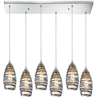 ELK Lighting Twister 6 Light Pendant in Polished Chrome 31338/6RC-VINW