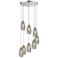 Twister 8 Light 18 inch Polished Chrome Pendant Ceiling Light