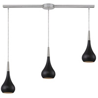 Lindsey 3 Light 36 inch Satin Nickel Pendant Ceiling Light in Oiled Bronze