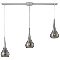 Lindsey 3 Light 36 inch Satin Nickel Linear Pendant Ceiling Light in Linear with Recessed Adapter