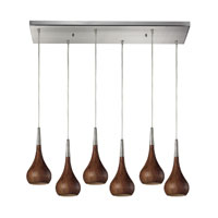 ELK Lighting Lindsey 6 Light Pendant in Satin Nickel 31340/6RC-BW