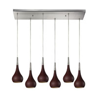 ELK Lighting Lindsey 6 Light Pendant in Satin Nickel 31340/6RC-DW