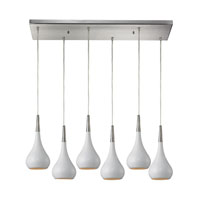 ELK Lighting Lindsey 6 Light Pendant in Satin Nickel 31340/6RC-WH