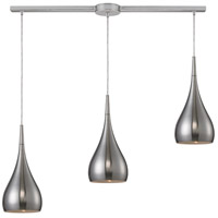 Lindsey 3 Light 36 inch Satin Nickel Pendant Ceiling Light