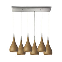ELK Lighting Lindsey 6 Light Pendant in Satin Nickel 31341/6RC-MO