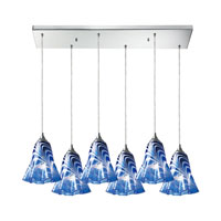 ELK Lighting Vestido 6 Light Pendant in Polished Chrome 31342/6RC-VBL