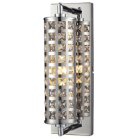 ELK 31346/1 Crystallure 1 Light 4 inch Polished Chrome Bath Bar Wall Light