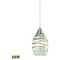 Vines LED 5 inch Satin Nickel Mini Pendant Ceiling Light in 1, Standard