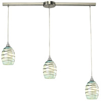 Vines 3 Light 36 inch Satin Nickel Linear Pendant Ceiling Light in Incandescent, Linear with Recessed Adapter