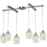 ELK Lighting Vines 6 Light Chandelier in Satin Nickel 31348/6MN