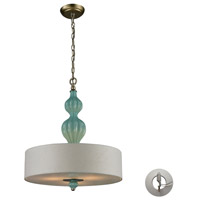 ELK 31362/3-LA Lilliana 3 Light 18 inch Aged Silver Pendant Ceiling Light in Recessed Adapter Kit