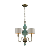 ELK 31363/3 Lilliana 3 Light 18 inch Aged Silver Chandelier Ceiling Light in Standard