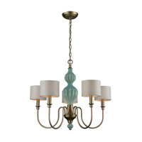 ELK 31364/5 Lilliana 5 Light 26 inch Aged Silver Chandelier Ceiling Light