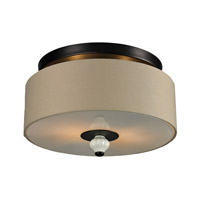 Lilliana 2 Light 14 inch Aged Bronze Semi-Flush Mount Ceiling Light