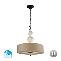 Lilliana 3 Light 18 inch Aged Bronze Pendant Ceiling Light in Recessed Adapter Kit