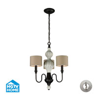 ELK Lighting HGTV HOME Lilliana 3 Light Chandelier in Aged Bronze with Recessed Conversion Kit 31373/3-LA