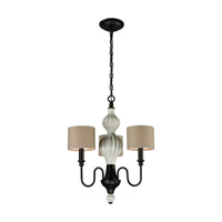 ELK Lighting HGTV HOME Lilliana 3 Light Chandelier in Aged Bronze 31373/3