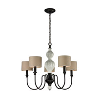 Lilliana 5 Light 26 inch Aged Bronze Chandelier Ceiling Light