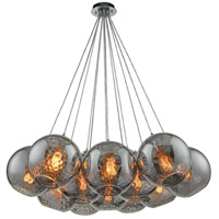 Watersphere 12 Light 20 inch Polished Chrome Pendant Ceiling Light in Smoke