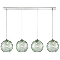 Watersphere 4 Light 46 inch Polished Chrome Pendant Ceiling Light, Linear Pan
