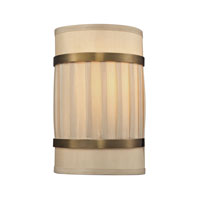 ELK Lighting Luxembourg 2 Light Wall Sconce in Brushed Antique Brass 31385/2