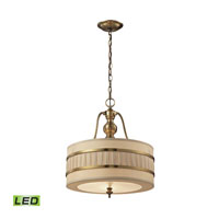 Luxembourg LED 16 inch Brushed Antique Brass Pendant Ceiling Light