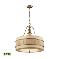 ELK Lighting Luxembourg LED Pendant in Brushed Antique Brass 31387/3-LED