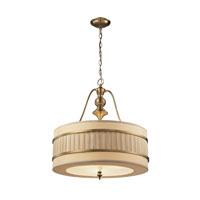 Luxembourg 3 Light 22 inch Brushed Antique Brass Pendant Ceiling Light