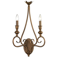Hamilton 2 Light 13 inch Mocha Wall Sconce Wall Light