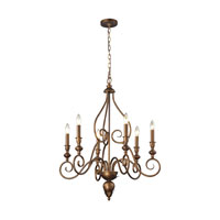 Hamilton 6 Light 27 inch Mocha Chandelier Ceiling Light